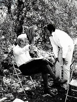 Alvin and Rex Harrison on location in Spain