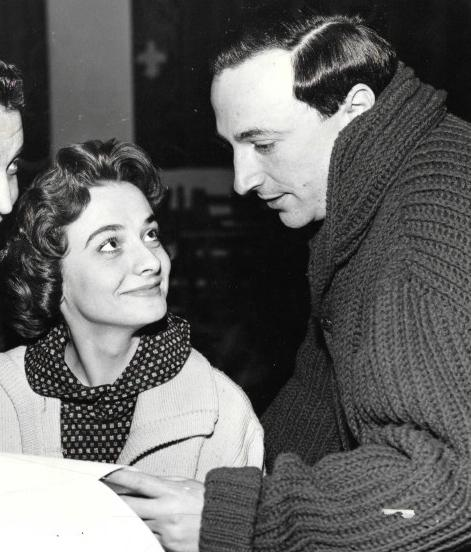 Alvin with his wife, actress Jacqueline Hill